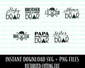 Mama Bear - Mothers Day SVG File Commercial Use OK - Bear Family - Papa Bear, Baby, Sister, Brother, Man Cub, Lil Cub - Instant Download
