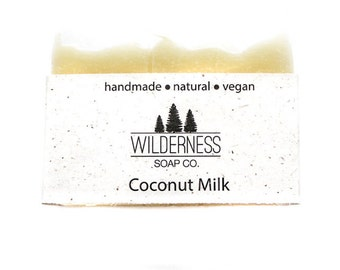 Coconut Milk Soap, Natural Soap, Vegan Soap, Unscented Soap, Cold Process Soap