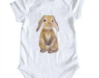 New Baby Gift, Baby Boy Clothing, Baby Boy Bodysuit, Bunny Babygrow Bodysuit Baby Girl Baby Boy Clothing