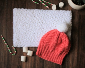 White crochet cowl, big, soft, stylish, unique,
