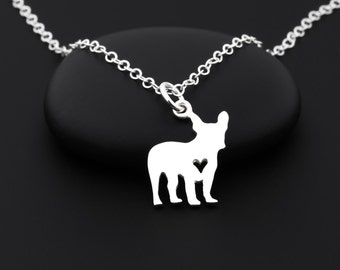 French Bulldog Necklace, French Bulldog Jewelry, Frenchie, French Bulldog Gifts, Sterling Silver, French Bulldog Charm, Dog Lover, Dog Owner