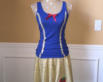 Snow White Inspired Running costume outfit skirt/tank top halloween