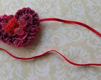 Valentine's Day Headband, Heart Headband, Red and Pink Headband, Pink Heart headband, Baby Valentine's Headband, V day headband