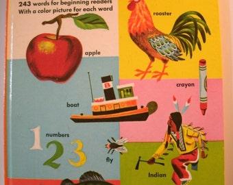 My First Golden Dictionary, Richard Scarry, Big Golden Book, Vintage 1970s Children's Book, 1972, Vintage Illustration
