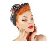 50s Pin Up Pop Art Pow  Zap Super Comic Reversible Headscarf - POW WOW