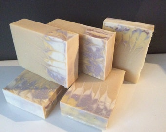 LAVENDER AND CHAMOMILE Soap ... With buttermilk, avocado oil, and essential oils