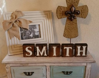 Wood block letters. Personalized wood decor. Personalized name decor. Personalized gifts. Wood letters. Custom wood letters. Wedding gifts.