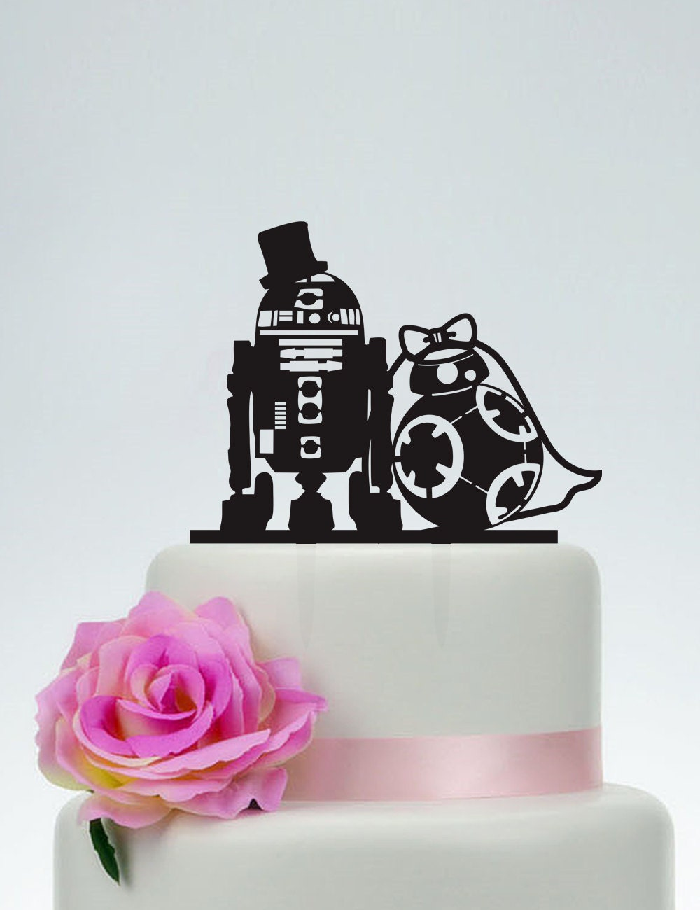 r2d2 wedding cake topper wedding cake topperstar wars cake topperr2d2 amp bb8 cake 18951