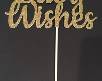 Baby Shower Cake Topper, Baby Wishes Cake Topper, Gold Baby Shower Cake Topper, Gold Baby Wishes, Gold Cake Topper