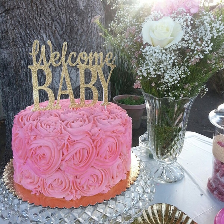 Baby Shower Cake Topper Welcome Baby Cake Topper By