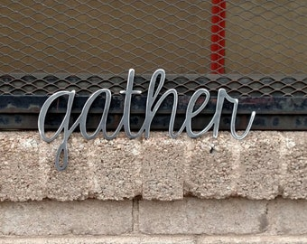 gather metal sign for home decor wall signs gifts metal - Metal Signs Home Decor