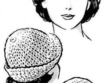 That Crocheted Hat Crochet Tam Beanie Cap Pattern PDF Instant Download