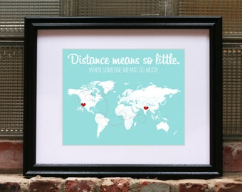 Long Distance Relationship, Long Distance Friendship Long Distance Love Long Distance Relationship Boyfriend Anniversary Gifts for Boyfriend