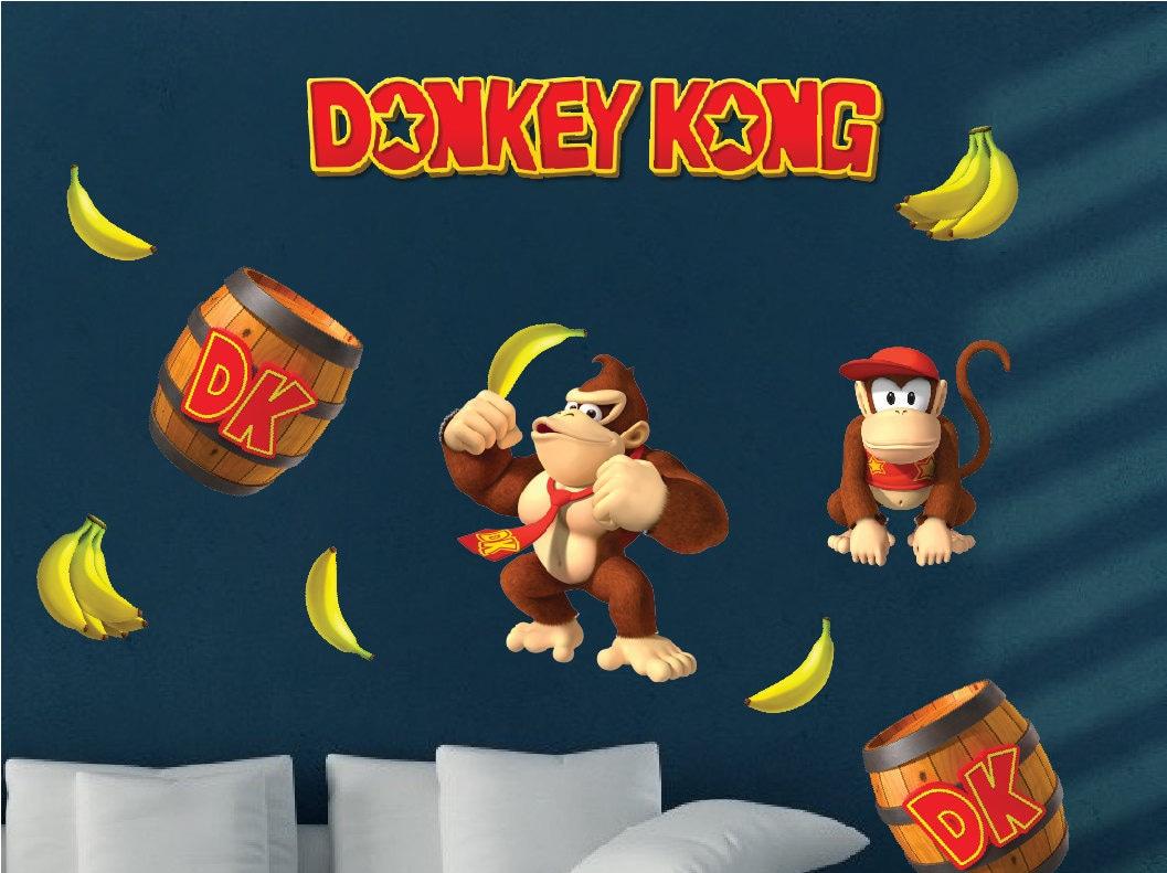 Donkey Kong Decal Donkey Kong Wall Decal Donkey Kong Wall