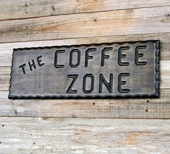 Kitchen Coffee Signs: COFFEE Sign Wood Coffee Sign Coffee Zone Kitchen By