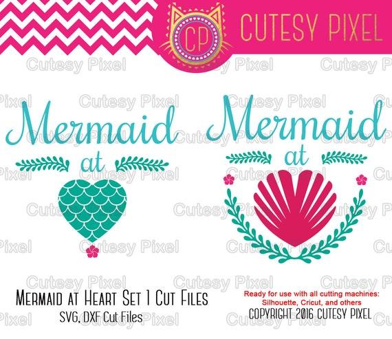 Mermaid At Heart Svg Cut Files For Vinyl Cuttersmermaid Svg