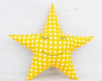 FREE SHIPPING Star Pillow, Stuffed star, Pillow, Nursery Decor, Soft Toy, Plush Toy, Kids Room Decor, Star Cushion, Decorative Pillow