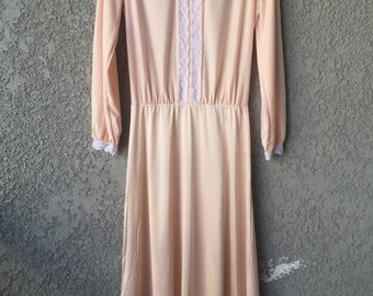 Peach long sleeved nightgown
