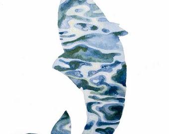 Fish Fine Art Print from Original Watercolor Painting