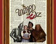 Wizard of Oz Upcycled Dictionary Art Print Poster