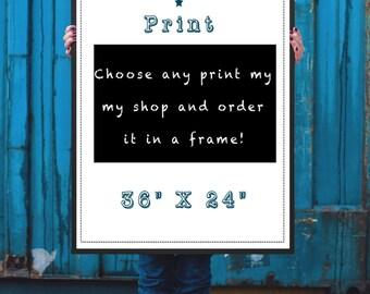 Framed print, framed poster, frame upgrade, 36 x 24 print