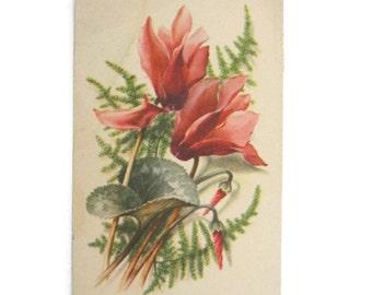 Vintage Flowers Postcard Paper Ephemera Used  Vintage Hungary Postcard Used Paper Ephemera