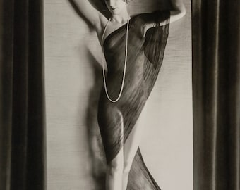 Orvil Hixon Photo, standing female figure, 1920s