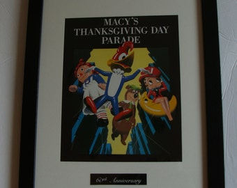 Macy's Thanksgiving Parade Book 60th Anniversary copyright 1986  addl  framed parade cover   ***** 2016 is Macy's 90th anniversary