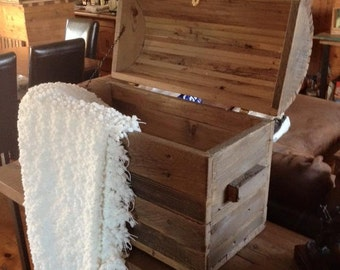 Old barn wood chest