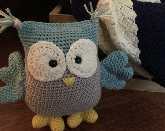 Handmade Amigurumi Crocheted Owl