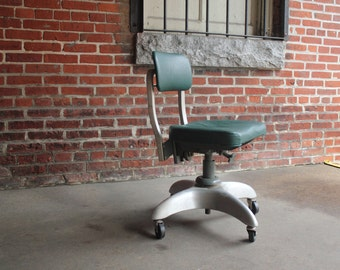 Vintage Mid Century Industrial GoodForm Aluminum Propeller swivel office CHAIR -   - antique - steampunk - excellent