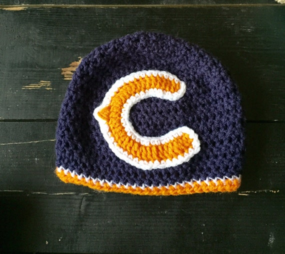 Items similar to Chicago Bears inspired hat, Chicago Bears ...
