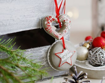 Christmas decorations set of 6