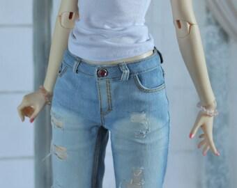 Women's BJD boyfriend's jeans  for Iplehouse nYID, Zaoll bjd pants, doll jeans, Iplehouse jeans
