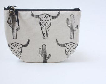 Cactus desert pleather coin wallet pouch bag