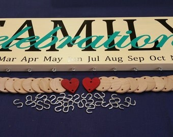 Birthday Board, Family Birthday, Gift for Mom, Family Celebration,Family Gift, Sign,Calendar, Mothers Day Gift,Grandparents Gift