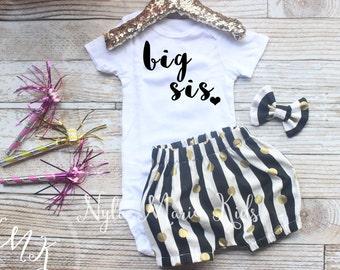 Big sis outfit, Big sister shirt, sibling annoucement, Big sister onesie, annoucement shirt, sibling shirts, pregnancy annoucement,