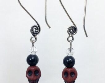 For the Love of Skulls Earrings
