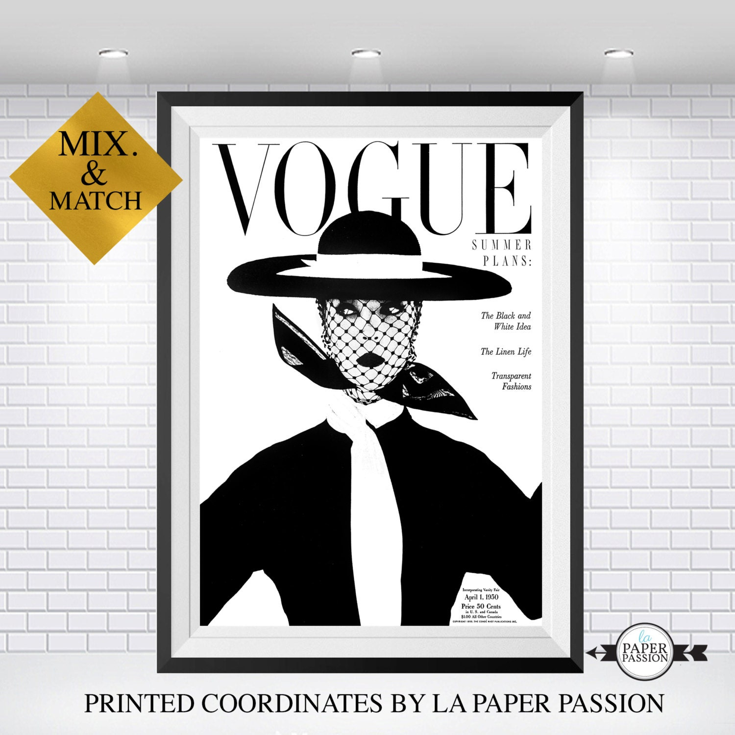 Vogue vogue poster vogue print vogue home decor vogue wall Home decor wall decor australia