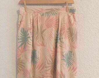 Vintage Multi-Color Print Skirt