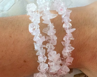 3 Clear Quartz Bracelets Perfect for Reiki, Meditation, Balancing Chakras