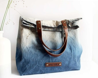 "hand-dyed cotton bag ""Lola"""