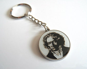 Engraving key chain Beethoven