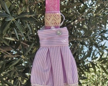 Greek Easter candle (lampada) with pink dress