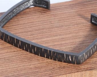 Silver cuff bracelet, Oxidized silver bracelet, Moderern Bracelet, Modern jewelry, Stackable Bracelet, Urban chic, Athleisure jewelry