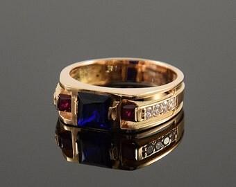 Unique men ring, Large ring for men, Gold men ring, Mens jewelry, 14k gold men ring, Signet gold ring, Signet men ring