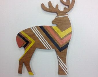 Geometric Deer, Nursery Art, Original Painting, Magical Touch