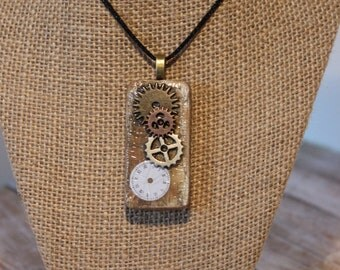 Steampunk Altered Domino Necklace
