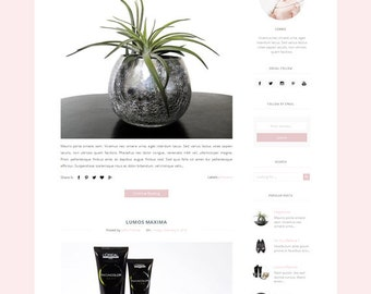 Modern Premade Blogger Template - with responsive clean and minimalist Design -  for Blogger Blogspot
