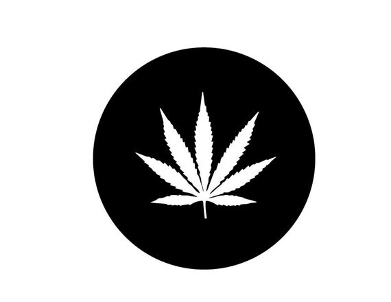 Pot Weed Marijuana Leaf Cutout Vinyl Sticker Decal 420 710